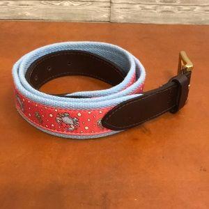 93124ca0862 Men s Vineyard Vines Blue Pink Crab Belt Sz 38